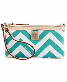 Dooney & Bourke Chevron Large Slim Wristlet - Handbags & Accessories - Macy's