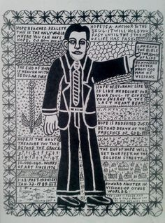 """Howard Finster Print """"I preach the Bible"""" Pop Art, Howard Finster, Old Time Religion, Bible 2, Art Brut, Lp Cover, Its A Mans World, China Art, Visionary Art"""