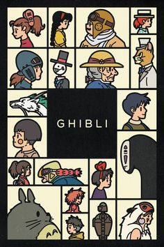whirra:    thoughtsyouforgottohave:    Ghibli poster by KOMBOH for Calgary Comic Expo 2013    i just watched spirited away cool