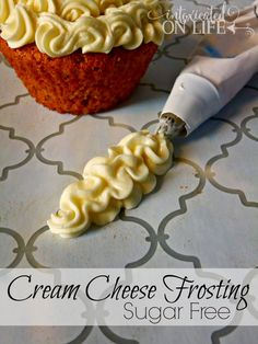 Try this healthy version of Cream Cheese Frosting, Sugar Free and a good fit for any muffin or cupcakes!
