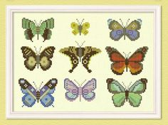 The Butterfly Collector - Large Cross Stitch Pattern. PDF Instant Download
