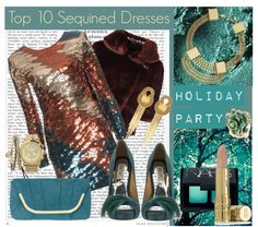"""""""Top 10 Sequined Dresses"""" by kekek ❤ liked on Polyvore"""