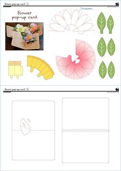 Make Flower 3D Pop-Up Card/kirigami pattern