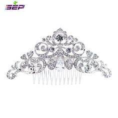 SEP Silver Rhinestone CZ Bridal Wedding Hair Comb Pins Accessories Jewelry FA5030CLE *** You can find out more details at the link of the image.(This is an Amazon affiliate link and I receive a commission for the sales)