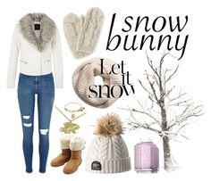 """snow bunny"" by joellesmolenaers on Polyvore featuring mode, River Island, M&Co, H&M, Bibico en Essie"