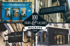 Check out 100 Signs & Facades Mockups by Madebyvadim on Creative Market