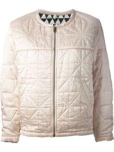 101588 New $580 Etoile Isabel Marant Quilted Long Sleeve Peach Jacket Top M #IsabelMarant #Jacket