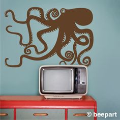octopus wall decal. $30.00, via Etsy.