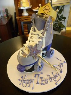 Roller Skate Cake | Hand sculpted from our delicious Chocola… | Flickr