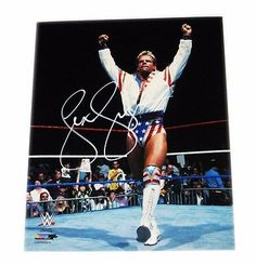 WWE LEX LUGER HAND SIGNED AUTOGRAPHED 8X10 PHOTO FILE PHOTO WITH COA 1