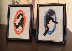 portal cross stitch I made for a friend