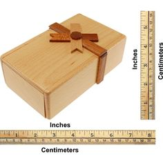 Secret Opening Puzzle Box with Ribbon - Tricky Wooden Puzzle Box | Great Gift Puzzle Box