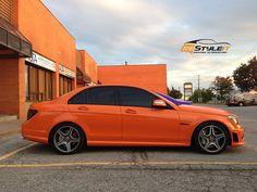 Burnt Orange Mercedes C63