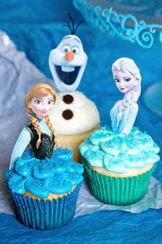 Frozen Cupcakes for a sweet granddaughter's birthday celebration
