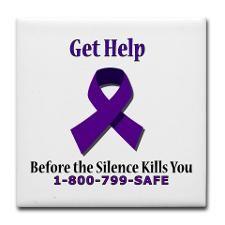 domestic violence ribbon | Domestic Violence Purple Ribbon Drink Coasters
