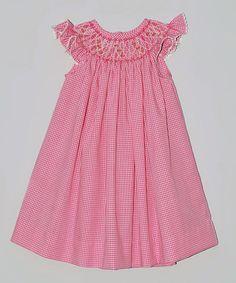 Loving this Pink Gingham Bishop Dress - Infant, Toddler & Girls on #zulily! #zulilyfinds