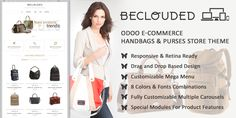 BeClouded HandBags & Purses Theme for #Odoo v9 Ecommerce