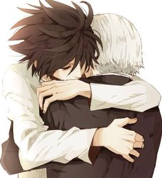L and Watari.  Ahhhh this hurts but it's so beautiful.  He knew.  L totally knew what was coming.