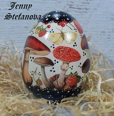 Decoupage by Jenny Stefanova Decoupage, Christmas Bulbs, Eggs, Holiday Decor, Home Decor, Easter Activities, Decoration Home, Christmas Light Bulbs, Room Decor
