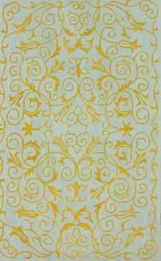 $5 Off when you share! Elegance Cotton VST9 Gold Rug | Contemporary Rugs