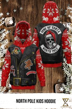 Gran this Motorcycle Skull Kids Hoodie today! Limited time only! Santa North Pole, Fleece Fabric, Kids Christmas, Kids Outfits, Kids Fashion, Skull, Motorcycle, Colours, Hoodies