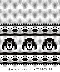 Knitted seamless border dogs and pads Baby Knitting Patterns, Knitting Charts, Stitch Patterns, Fair Isle Pattern, Knitted Animals, Dog Pattern, Crochet Chart, Knitted Gloves, Cross Stitch Embroidery