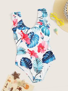 To find out about the Girls Random Tropical Print One Piece Swimsuit at SHEIN, part of our latest Girls Swimwear ready to shop online today! Swimsuits For Tweens, Bathing Suits For Teens, Cute Bathing Suits, Cute Swimsuits, Summer Outfits, Girl Outfits, Cute Outfits, Mermaid Swim Tail, Bikini Outfits