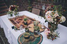 #tischdeko Botanische Stadthochzeit im Gewächshaus | Hochzeitsblog - The Little Wedding Corner