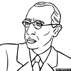 Printable famous people coloring pages including composers