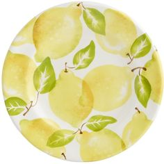 Pier 1 Imports Yellow Lemon Salad Plate ($7.95) ❤ liked on Polyvore featuring home, kitchen & dining, dinnerware, yellow, yellow dinnerware, yellow salad plates and pier 1 imports