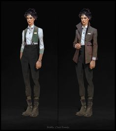 The amazing concept art of Sergey Kolesov for Dishonored 2 The Art of Dishonored 2 Female Character Design, Character Design Inspiration, Character Concept, Character Art, Character Portraits, Style Inspiration, Dishonored 2, Fashion Gallery, Fashion Art