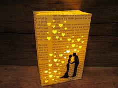 Hey, I found this really awesome Etsy listing at https://www.etsy.com/listing/168232767/1-book-lovers-luminary-book-wedding-book