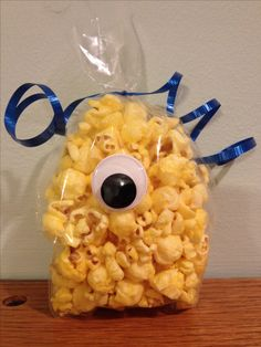 Minion popcorn bags for goodie bags