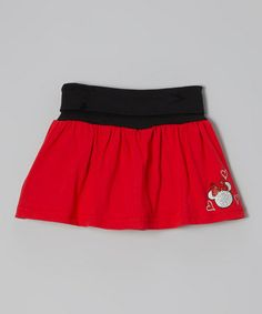 Take a look at this Red Minnie Scooter Skirt - Toddler & Girls by Disney on #zulily today!