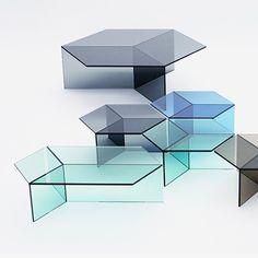 Isom Glass Table by Sebastian Scherer