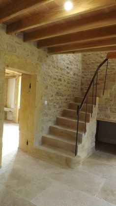 Stone Interior, Interior Exterior, Italian Home, Stone Houses, Other Rooms, Traditional House, Indoor Outdoor, Sweet Home, Stairs