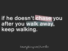 need to remember this!  KEEP WALKING SUETS!!!