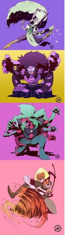 Fusions, Opal, Sugilite and Alexandrite