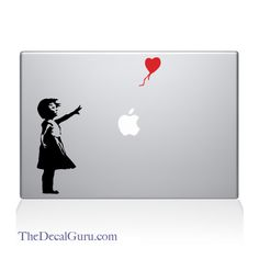 ffba0c07a7 The Decal Guru - Banksy Girl Macbook Decal Stickers