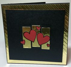 6x6 Valentine card. Heart topper is an unbranded die from China.