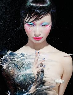 Li Zheng photographed by Chen Man for M.A.C. cosmetics