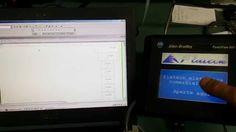 #Flateck #AllenBradley #Rockwell #PanelView - Teste de comunicação RS-232 (PC/IHM) e comunicação RS-232 (DF1) (CLP/IHM)