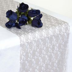 Add an instant WOW factor into your table decoration with Tablecloths Factory's supreme quality Floral Lace Table Runners, Table Overlays, Table Skirts and more! Shop for our lovely Sheer Floral Lace Table Supplies at discounted rates. Lace Runner, Lace Table Runners, Silver Wedding Decorations, Table Overlays, Silver Table, Banquet Tables, Dining Decor, Wedding Table, Wedding Ideas