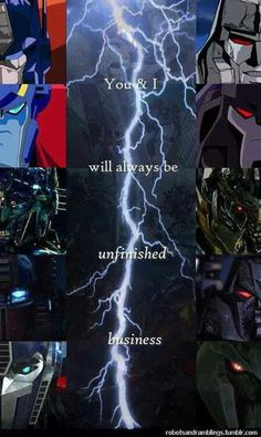 The never ending battle optimus vs. megatron