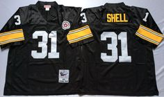 8a1ad2ac Steelers 31 Donnie Shell Black Throwback Jersey Pittsburgh Steelers  Jerseys, Steelers Gear, Football Jerseys