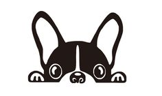 Peeking french bulldog face VINYL DECALS for home cars walls cups bumper sticker Baby Room Wall Decals, Vinyl Wall Stickers, Laptop Stickers, Animal Classification, Monogram Decal, Cute Drawings, French Bulldog, Tumblers, Poster