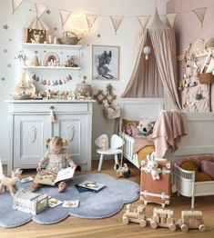 Beautiful layout for children's room Baby Bedroom, Baby Room Decor, Nursery Room, Girls Bedroom, Ikea Girls Room, Bed Room, Kids Room Design, Little Girl Rooms, Kids Decor