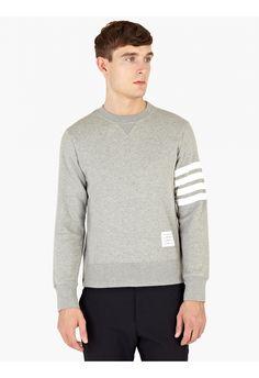 Thom Browne Grey Cotton Sweatshirt | oki-ni