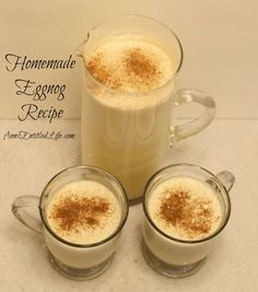 Homemade Eggnog Recipe; Eggnog is a delicious, traditional holiday drink, and this homemade eggnog recipe makes a fabulously rich, tasty, fresh eggnog you can whip up in minutes. This is truly the best eggnog you will ever have.  http://www.annsentitledlife.com/recipes/homemade-eggnog-recipe/