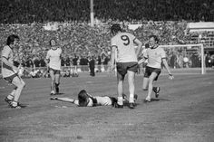Arsenal player Charlie George lies on the ground and throws his arms in the air after scoring the winning goal during extra time for Arsenal during the FA Cup Final against Liverpool at Wembley. Pure Football, Arsenal Football, Football Team, Retro Football Shirts, Vintage Football, Arsenal Players, Arsenal Fc, Barca Flag, Arsenal Match